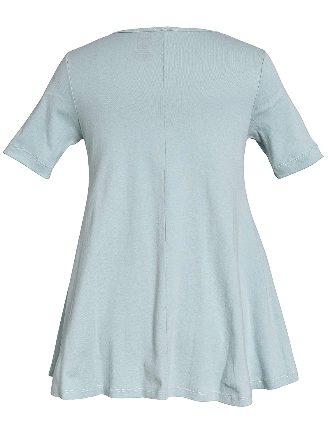 Green 3 Womens Short Sleeve Baby Doll Tunics