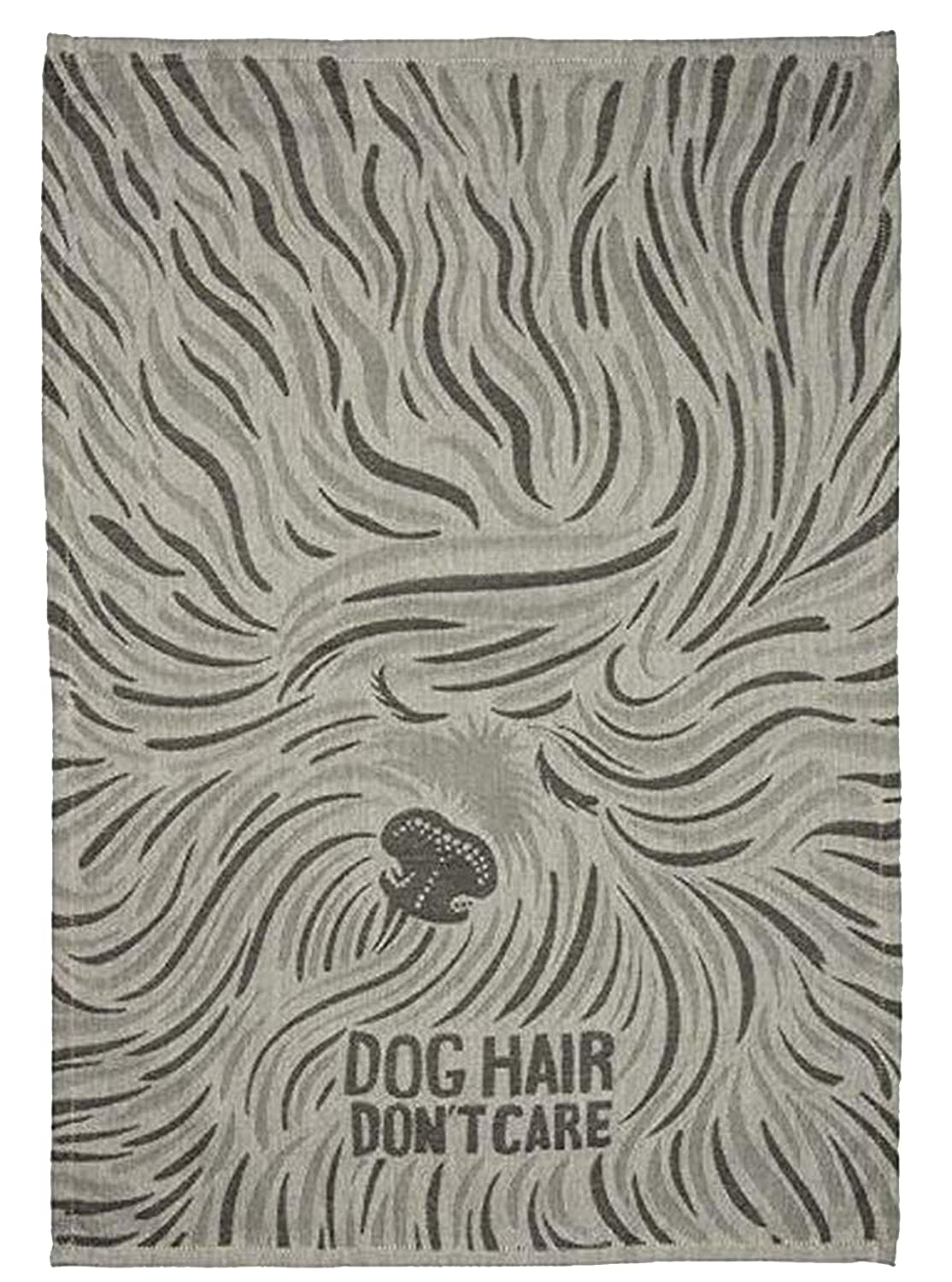 Dog Hair Dont Care Primitives by Kathy Jacquard Woven Dish Towel