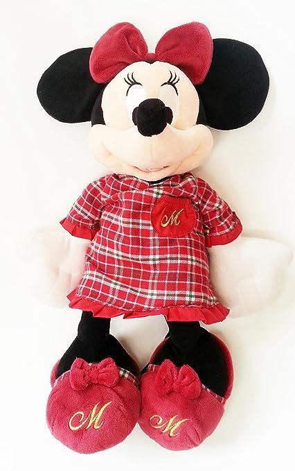 Christmas Minnie Mouse Plush.Amazon Com Disney S Christmas Plaid Minnie Mouse Plush