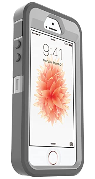 best service 54a31 2fdb1 OtterBox Defender Case for Apple iPhone 5/5s/SE - (Grey/White) (Case Only,  No Holster)
