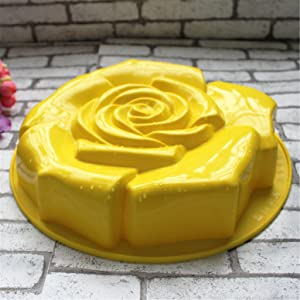 FantasyDay 11 Rose Flower Birthday Cake Mold Silicone Cake Baking Pan/Silicone Mold for Anniversary Birthday Cake, Loaf, Muffin, Brownie, Cheesecake, Tart, Pie, Flan, Bread and More #1 (Color: #1)