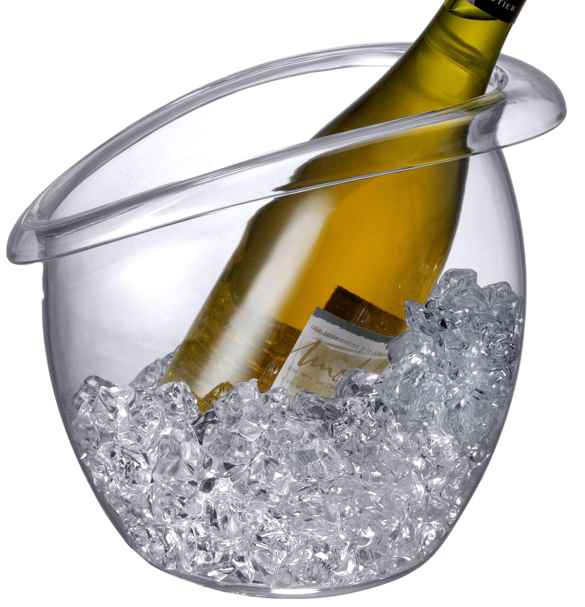 Prodyne BW-88 Bubble Wine Bucket, Clear