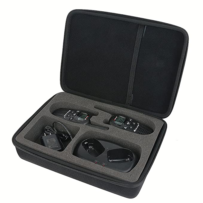 Khanka Hard Case for Motorola MH230R 23-Mile Range 22-Channel FRS/GMRS Two-Way Radio (Pair)