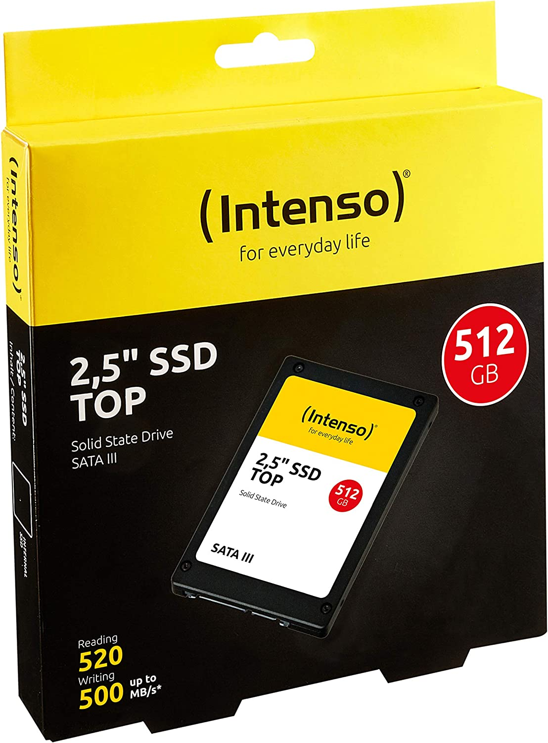 Intenso Unidad de estado sólido TOP SSD 512 GB, negro: Intenso ...