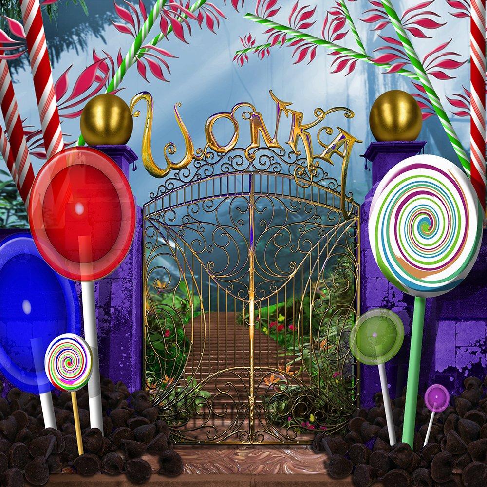 写真バックドロップ – Wonka Gates – 8 x 8 ft。シームレスなファブリック   B076B5YZTM