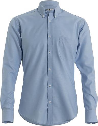 Kustom Kit - Camisa de trabajo Oxford manga larga ajuste entallado hombre caballero: Amazon.es: Ropa y accesorios