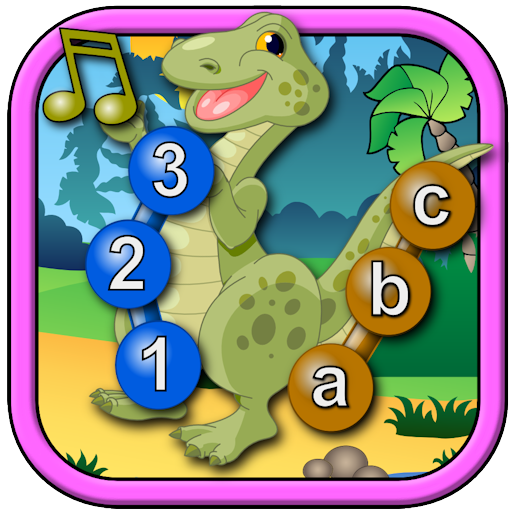Kids Dinosaur Join and Connect the Dots Puzzles - Rex teaches the ABC numbers shapes and counting suitable for toddlers and young preschool children ages 2+