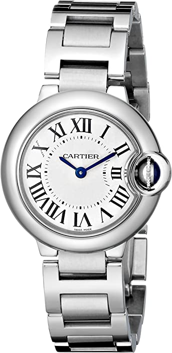 5fc72cf7649c7 Amazon.com  Cartier Women s W69010Z4 Ballon Bleu Stainless Steel ...