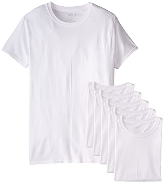 Fruit of the Loom Men's Stay Tucked Crew T-Shirt - Small - White (