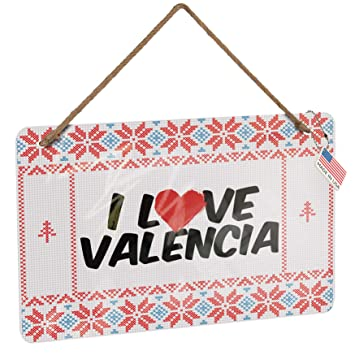 Amazon.com: NEONBLOND Metal Sign I Love Valencia Vintage ...