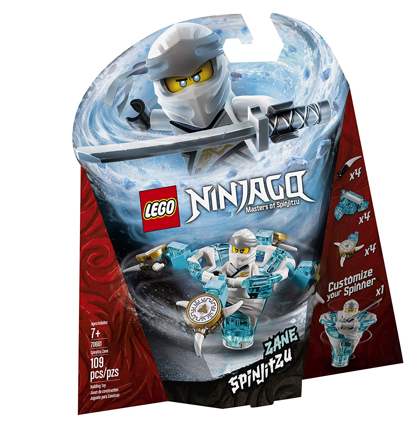 Amazoncom Lego Ninjago Spinjitzu Zane 70661 Building Kit New