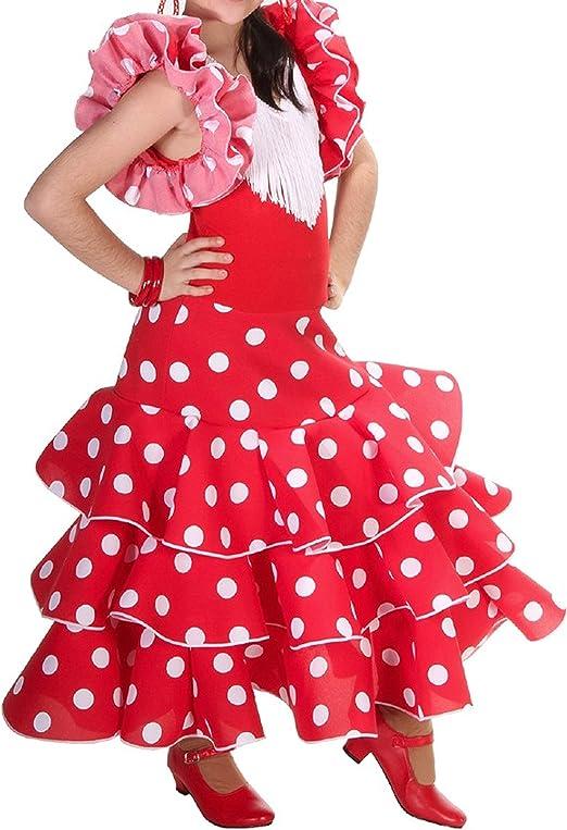Anuka Vestido de niña para Danza Flamenco o sevillanas: Amazon.es ...