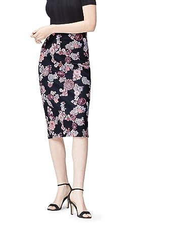 9d678d0486db FIND Jupe Crayon Imprimé Fleuri Femme  Amazon.fr  Vêtements et accessoires