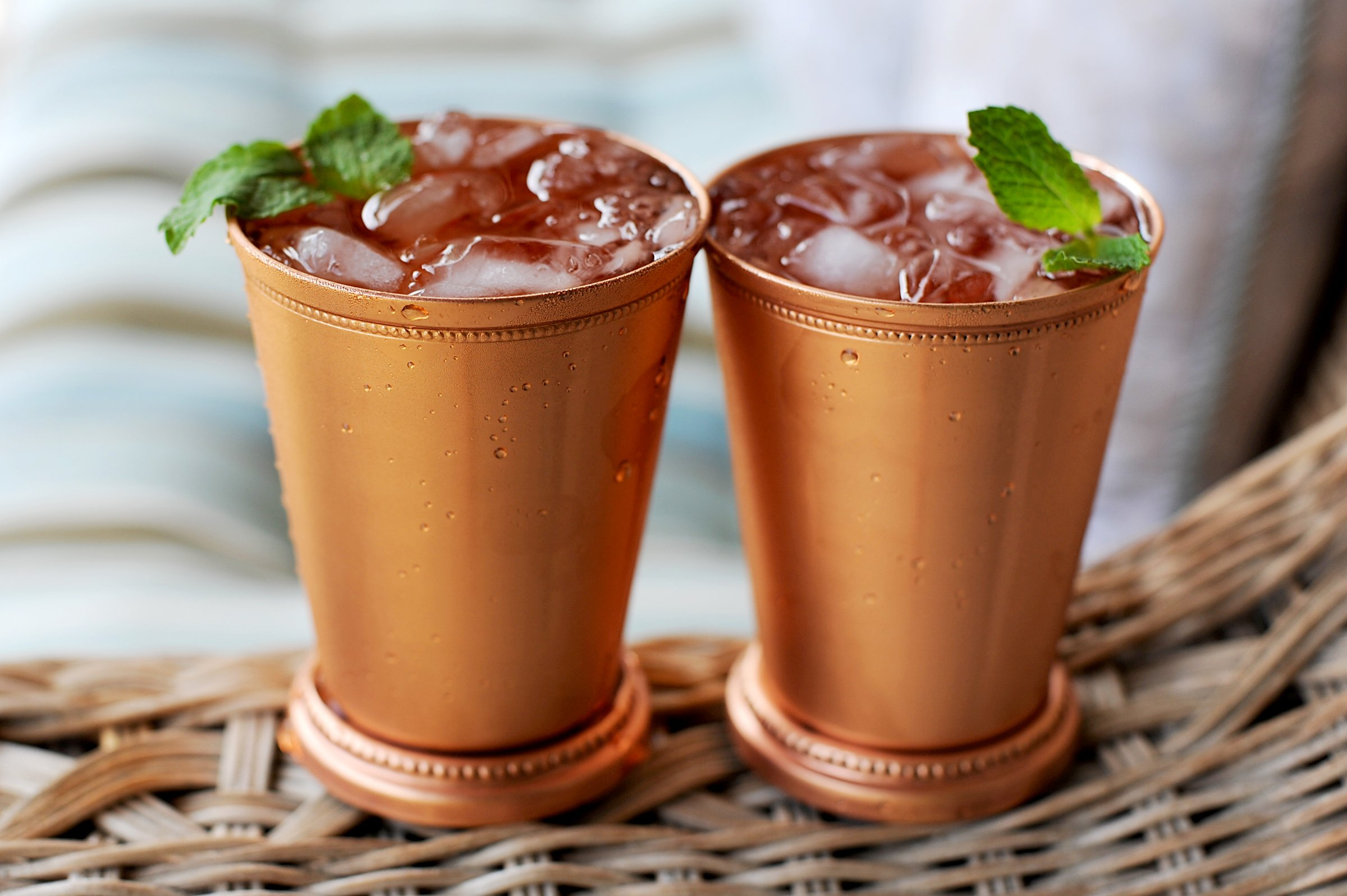Moscow Mule Mint Julep Cup - 12 Oz, 100% Pure Copper Beautifully Beaded Trim Edging Mint Julep Cups Capacity 12 Ounce by Alchemade
