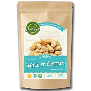 Eat Well Premium Foods - White Mulberries 2 lbs 32oz - Dried Mulberries - All-Natural & Sun-Dried - Unsulfured, Bulk