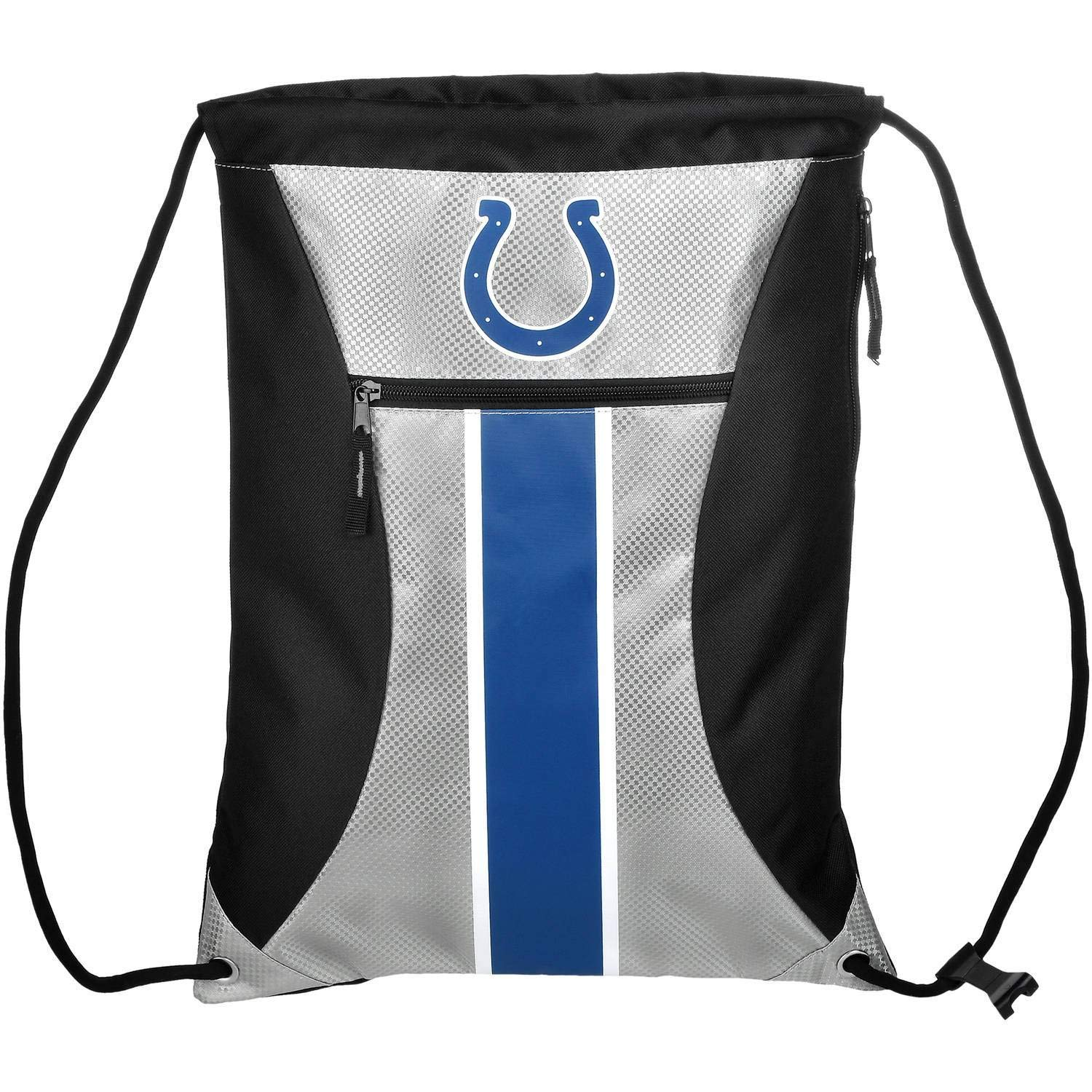 Indianapolis Colts Big Stripe Zipper Drawstring Backpack