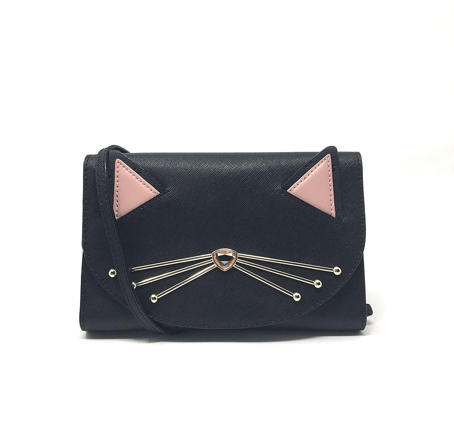 Kate Spade Black Cat Jazz Things Up Winni CrossBody Clutch Handbag