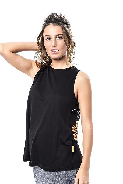 Mamatayoe Gregal, Camiseta sin Mangas para Mujer, Negro (Black), Small (Tamaño del Fabricante:S)