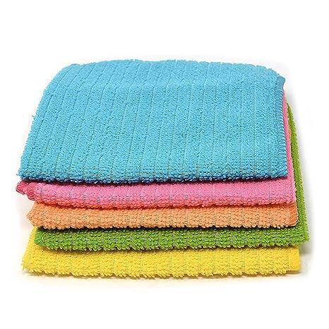 Microfibra Terry toallas de té, compruebe suave Super absorbente y pelusa cocina Dish Limpiador Multiusos