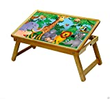 DFS Multipurpose FOLDABLE STUDY TABLE / SCHOOL ACTIVITY TABLE / BED BREAKFAST TRAY for Kids - Cartoon Series (Wild Animals)
