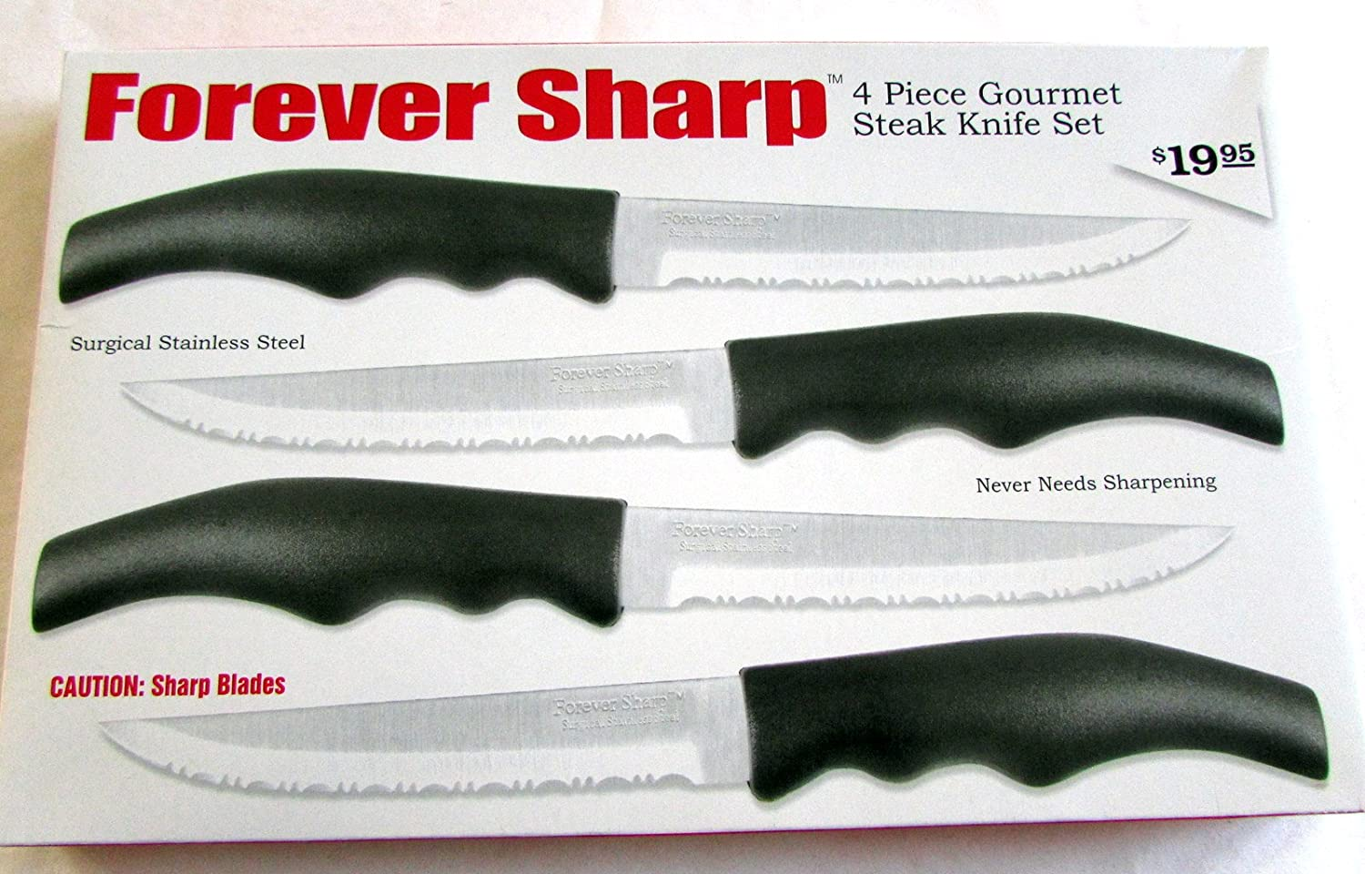 Amazon com forever sharp 4 piece gourmet steak knife set other products kitchen dining