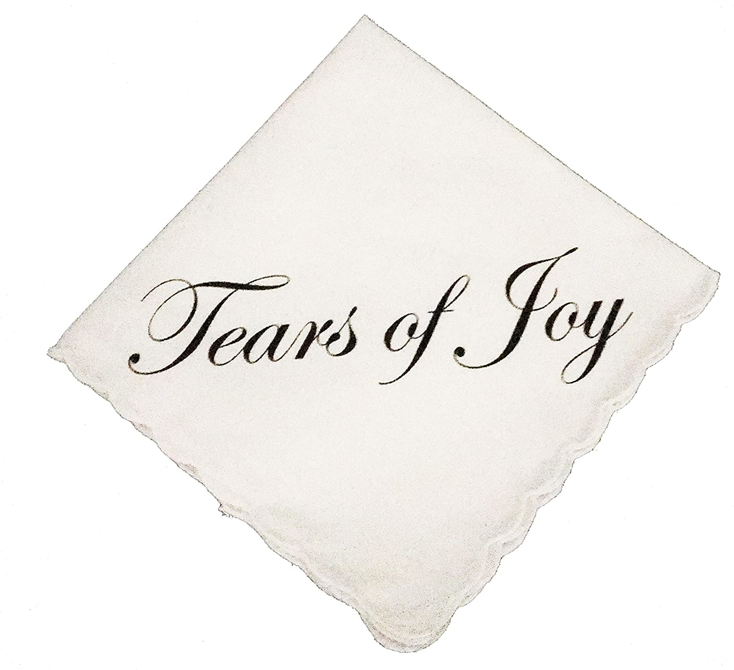 Tears of Joy Wedding Handkerchief by Wedding Tokens- Perfect Wedding Keepsake