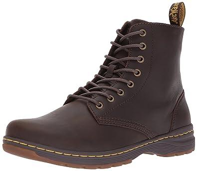 Dr. Martens Men's Monty Combat Boot, Dark Brown, 12 Medium UK (13