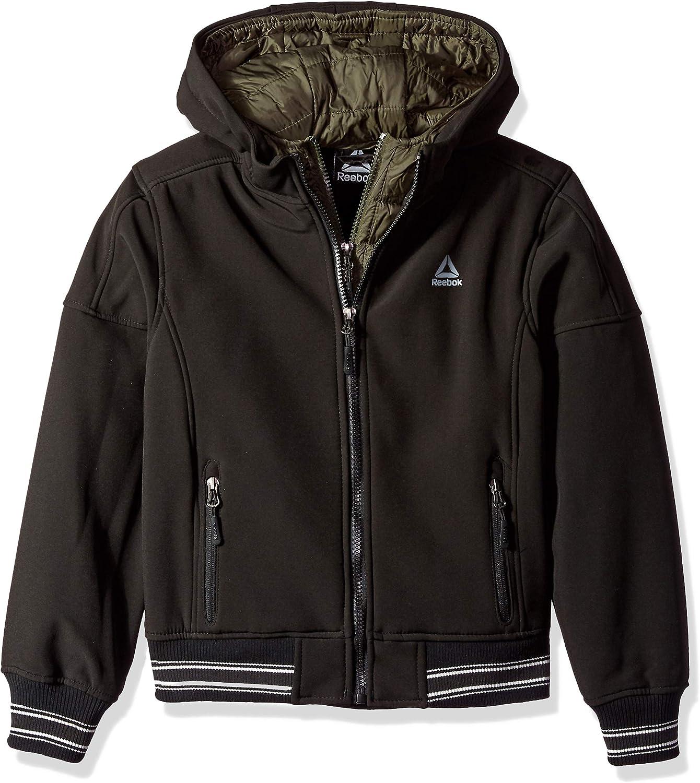 Choose SZ//Color. Reebok O/_RB345H Boys Big Active Vestee Jacket W// Striped Hem