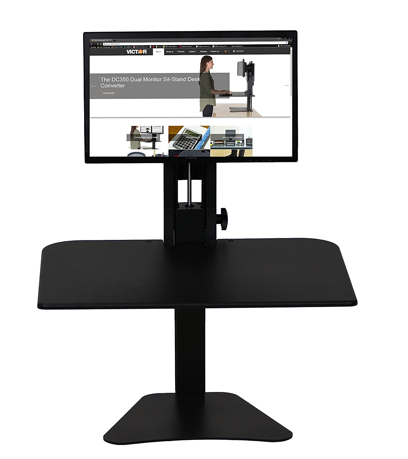 Amazoncom Victor DC300 High Rise Collection SitStand Desk