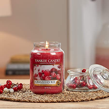 Yankee Candle Cranberry Ice Duftkerze Mittleres Glas 411 g