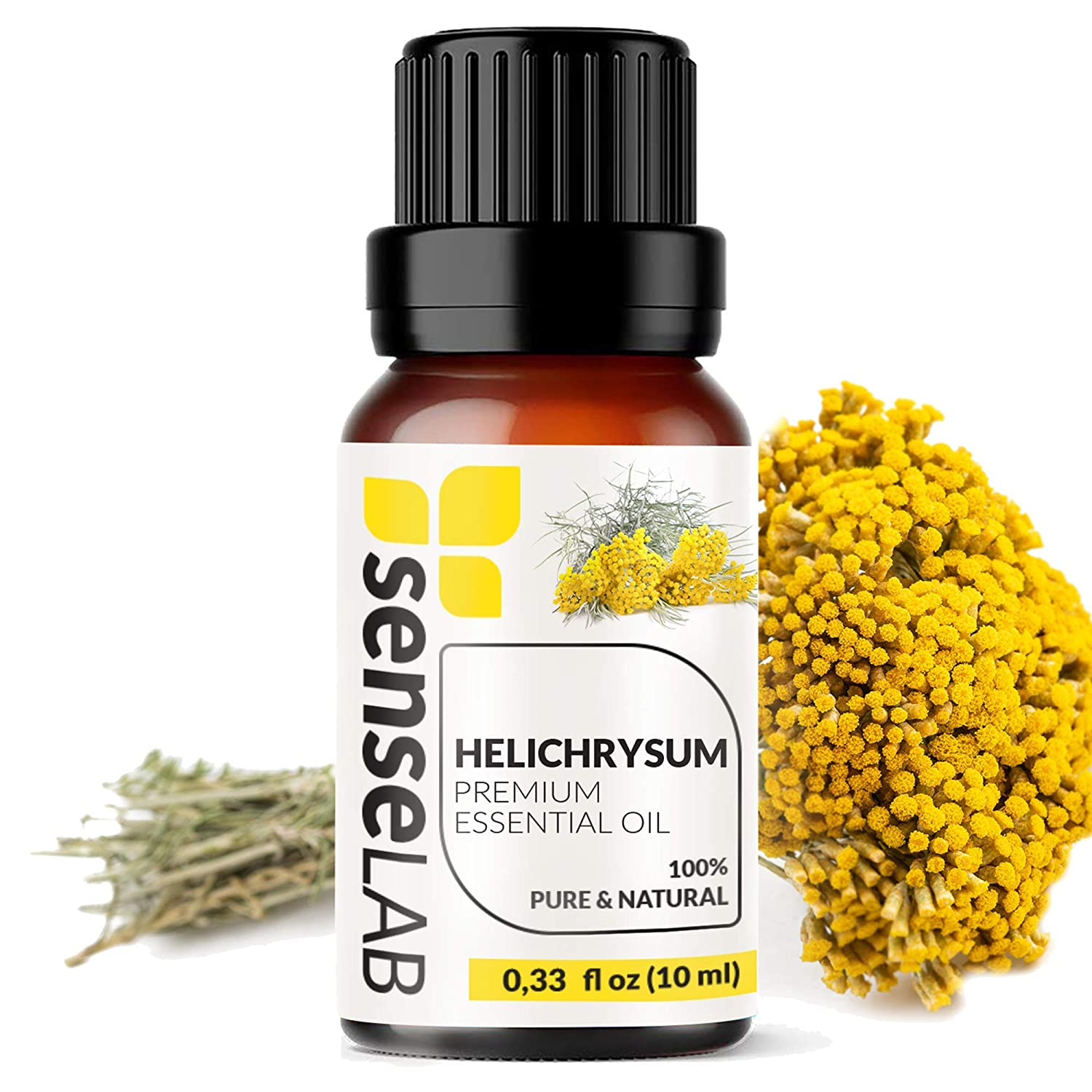 Helichrysum Essential Oil - 100% Pure Extract Helichrysum Oil Therapeutic Grade (0.33 Fl Oz / 10 ml)