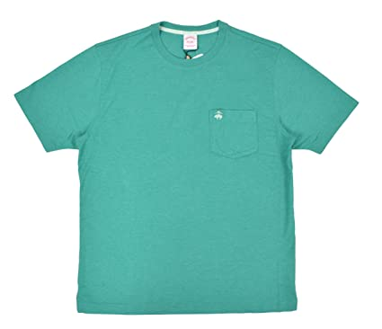03f2216365b Brooks Brothers Men s Classic Fit Supima Cotton Pocket Tee T-Shirt Heather  Green (Medium