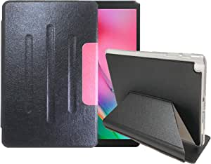 Samsung Galaxy Tab A 10.1 (2019) MODEL T510/T515 SIZE 10.1 INCH FOLIO COVER CASE FULL PROTECTION - COLOR BLACK/RED