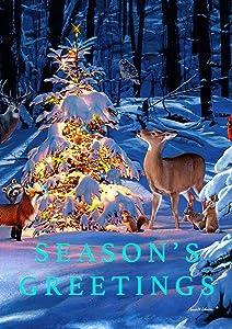 Toland Home Garden 1112249 Woodland Season Greetings Garden Flag (12.5 x 18-Inch), (12.5