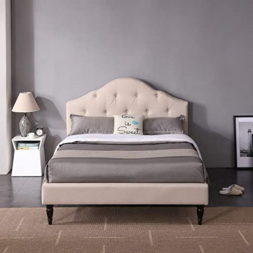 Winterhaven Upholstered Platform Bed Headboard and Wood Frame