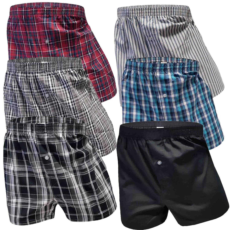 6 Stück Boxershorts Herren Baumwolle Unterhose Männer