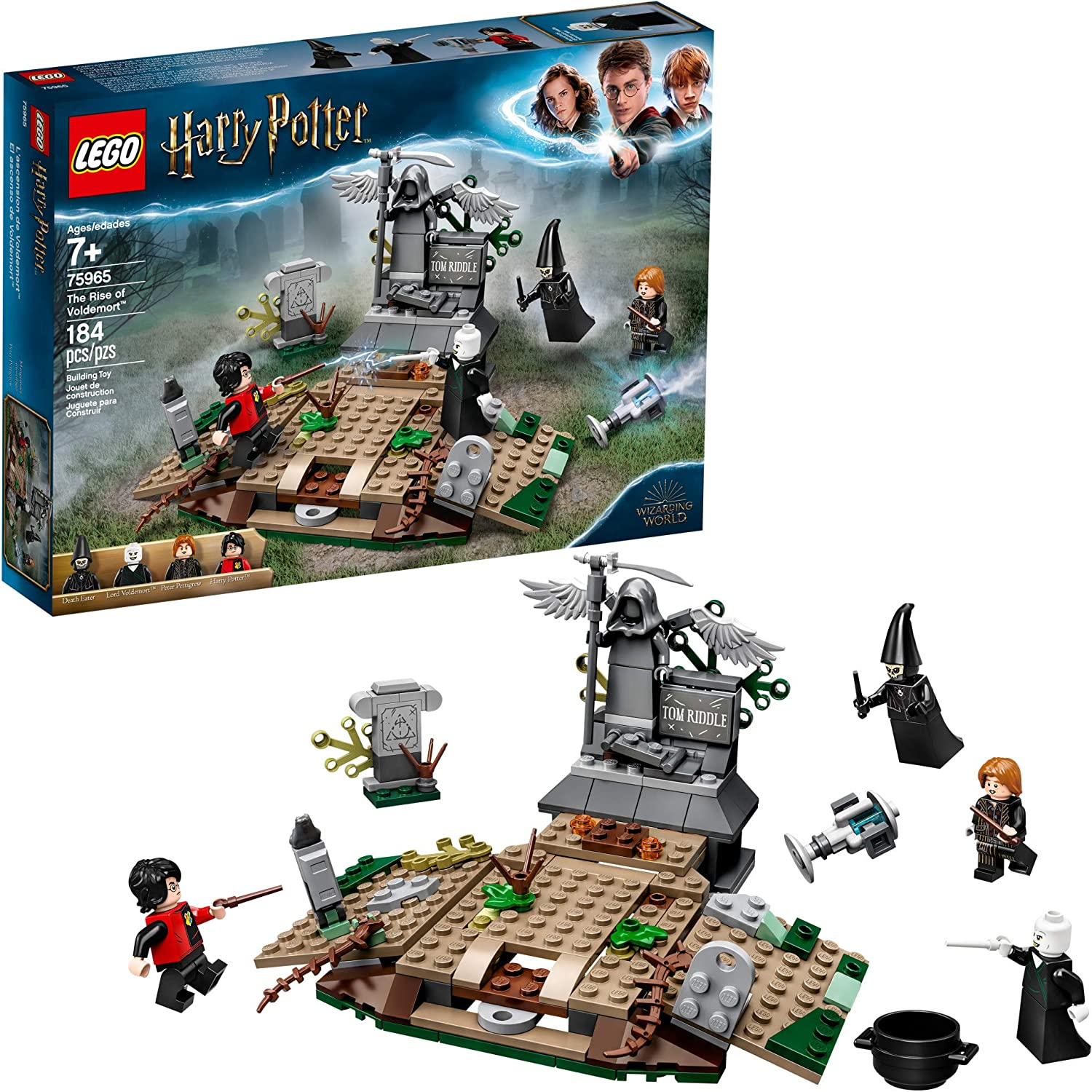Amazon Com Lego Harry Potter And The Goblet Of Fire The Rise Of Voldemort 75965 Building Kit 184 Pieces Toys Games