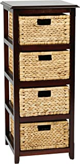OSP Designs Office Star Seabrook 4-Tier Storage Unit with Natural Baskets Espresso Finish  sc 1 st  Amazon.com & Amazon.com: Safavieh American Homes Collection Vedette Distressed ...