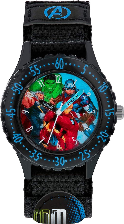 Avengers Reloj Analógico para Niños de Cuarzo con Correa en Tela AVG5008