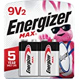 Energizer Max 9V Batteries, Premium Alkaline 9 Volt Batteries (2 Battery Count) - Packaging May Vary