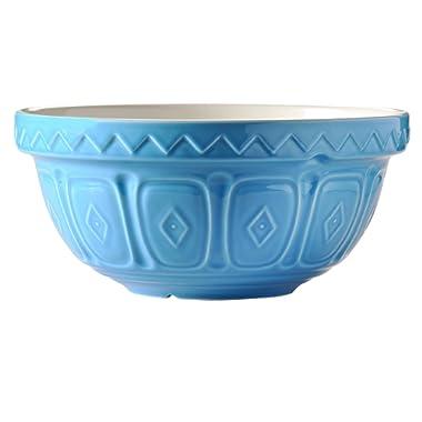Mason Cash Earthenware Mixing Bowl, S24, 9-1/2-Inches, Blue