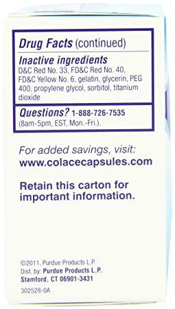 Amazon.com: Colace 100mg, 30-count Boxes (Pack of 2): Health & Personal Care