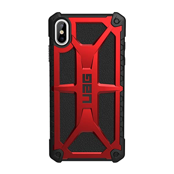 URBAN ARMOR GEAR UAG iPhone Xs Max [6.5-inch Screen] Monarch Feather-Light Rugged [Crimson] Military Drop Tested iPhone Case