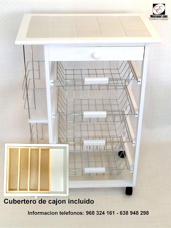 Mueble Gestion Verdulero Frutero Oporto 5 Blanco (Cubertero de ...
