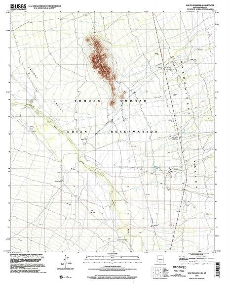 Map Of South Arizona.Amazon Com Yellowmaps South Komelik Az Topo Map 1 24000 Scale