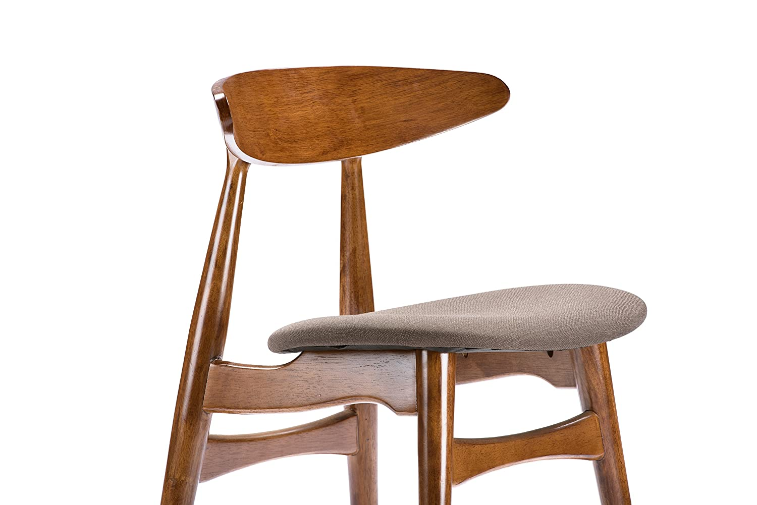 Amazon.com - Baxton Studio Flamingo Mid-Century Dark Walnut Wood ...