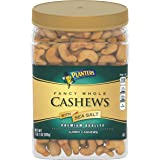 Planters Fancy Whole Cashews With Sea Salt, 33 oz. Resealable Jar - Snack For Adults Made With Simple Ingredients - Good…