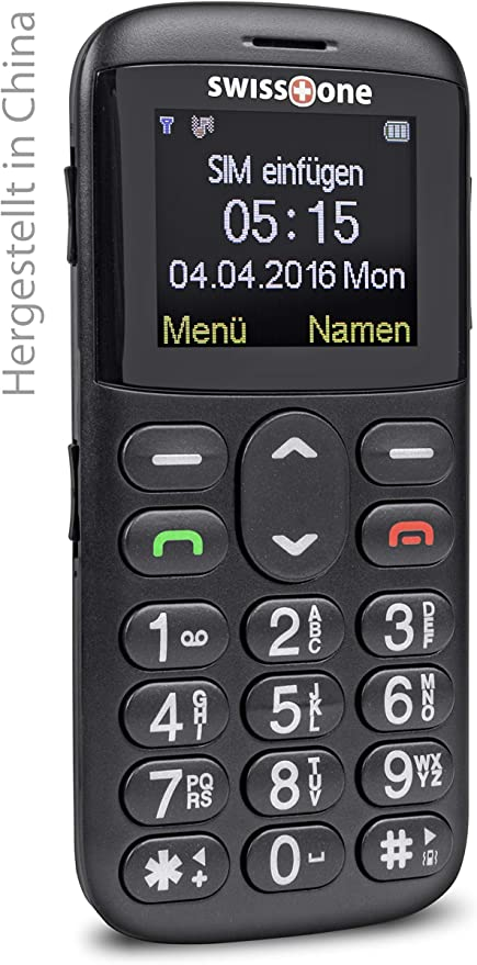 Swisstone Bbm 515 Gsm Mobiltelefon Schwarz Elektronik