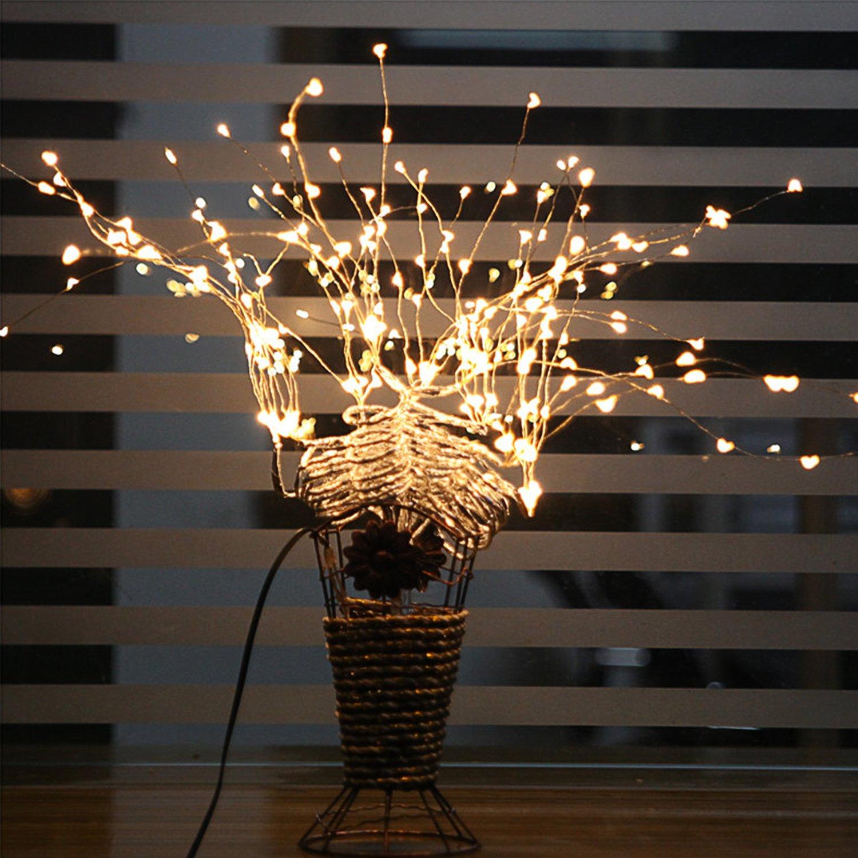 Fivanus 33Foot 100 LEDs Copper Strings Lights (Silver)