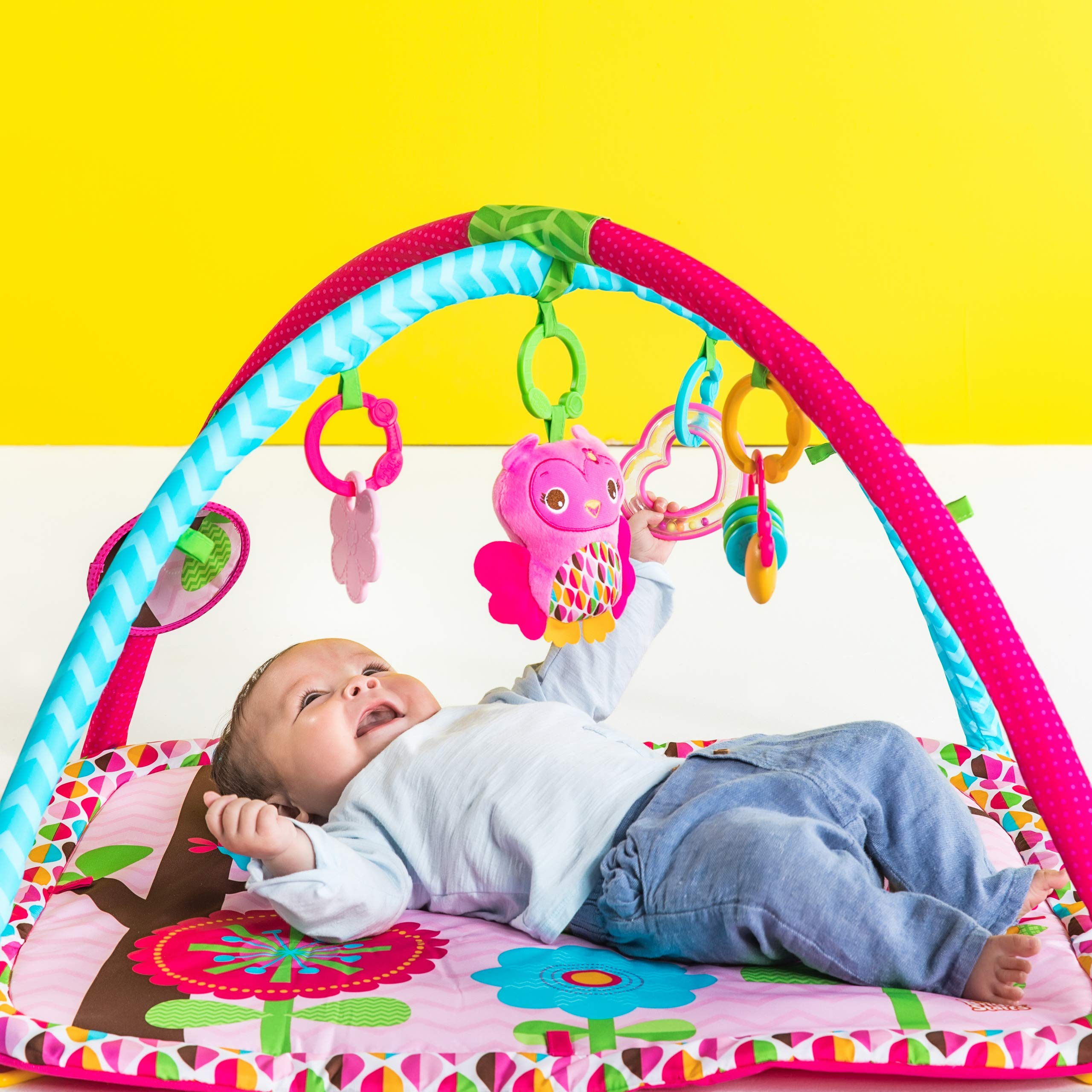 Bright Starts Charming Chirps Activity Gym, Pretty In Pink by Bright Starts (Image #2)